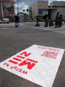 Naklejka na chodnik - Promocja wydarzeń kulturalnych Narodowe Forum Muzyki Musica Electronica Nova